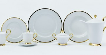 "zdjęcie Porcelain Tableware - Romeo Shape, Decoration ""Julia"""